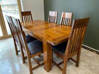 Extendable Dining Table & 6 chairs for sale