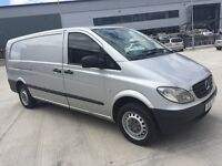 Mercedes vito van 2010 111 cdi xlwb silver 1 company owned motorway miles well maintained bargain