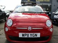 FIAT 500 0.9 TwinAir 3dr (start/stop) (red) 2011