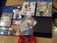 Playstation 4 (PS4) + 9 Games + 10 Months Online PS+ Grand Theft Auto 5, FIFA, Star Wars, Alien