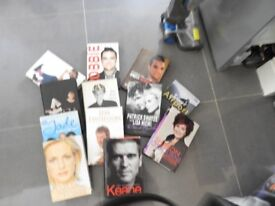 This is a bundle of 12 books, mostly autobiographies. All hardback