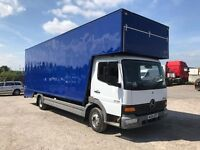 Mercedes atego 815 25 ft luton drop well box van removals 1 owner from new