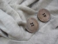 """Emu"" Australian Cowl Neck Jumper 100% Merino Wool Small Beige"