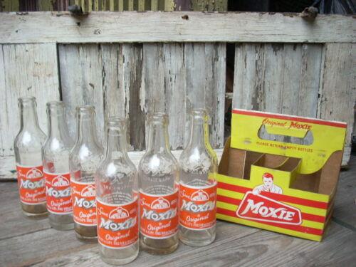 Vintage The MOXIE Co. Soda Bottle 6 Pack Cardboard Carrier Advertising Bottles