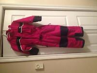 Girls Columbia one piece snowsuit 6x
