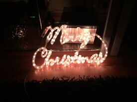 Merry Christmas led rope light ip44 rated indoor or outdoor use