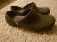 Croc work shoes.