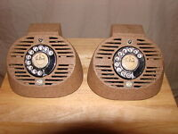 Vintage Canadian Made Dyl-A-Com Intercom Speakers