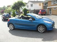 unwanted part x to clear PEUGEOT 207 CC HARD WORKING TOP CONVERTIBLE CLEAN CAR 2007 NEWER SHAPE
