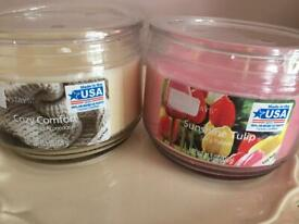 Two new 3 wick candles