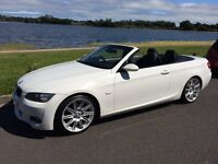 BMW 320i M Sport Convertible, Low Miles, STUNNING White with Black Leather