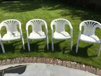 4 x Plastic Patio Chairs