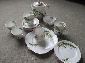 Bone China Vintage Tea set by Melba