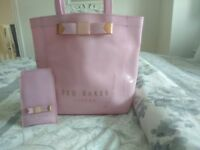 Ted Baker Pink Plain Bow Icon Shoulder Bag + Ted Baker Jackie Bow Iphone Case - Bright Pink