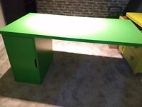 Ikea Alex/Linnmon Desk / Table top with Cabinet - Green