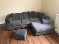 Grey corner sofa, open to offers