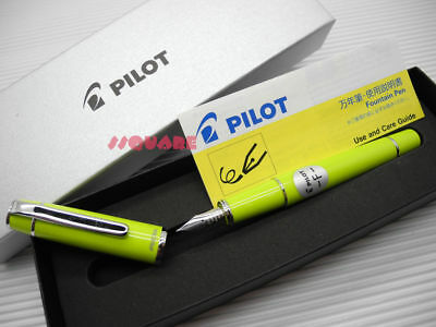 Tracking Number Pilot Fpr-3sr Prera Fine Fountain Pen Lime Green 6 Cartridges