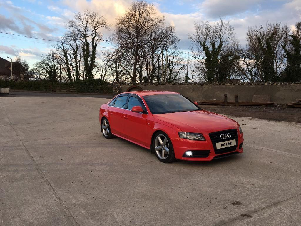 audi a4 b8 2008 s line misano red in ballycastle county antrim gumtree. Black Bedroom Furniture Sets. Home Design Ideas