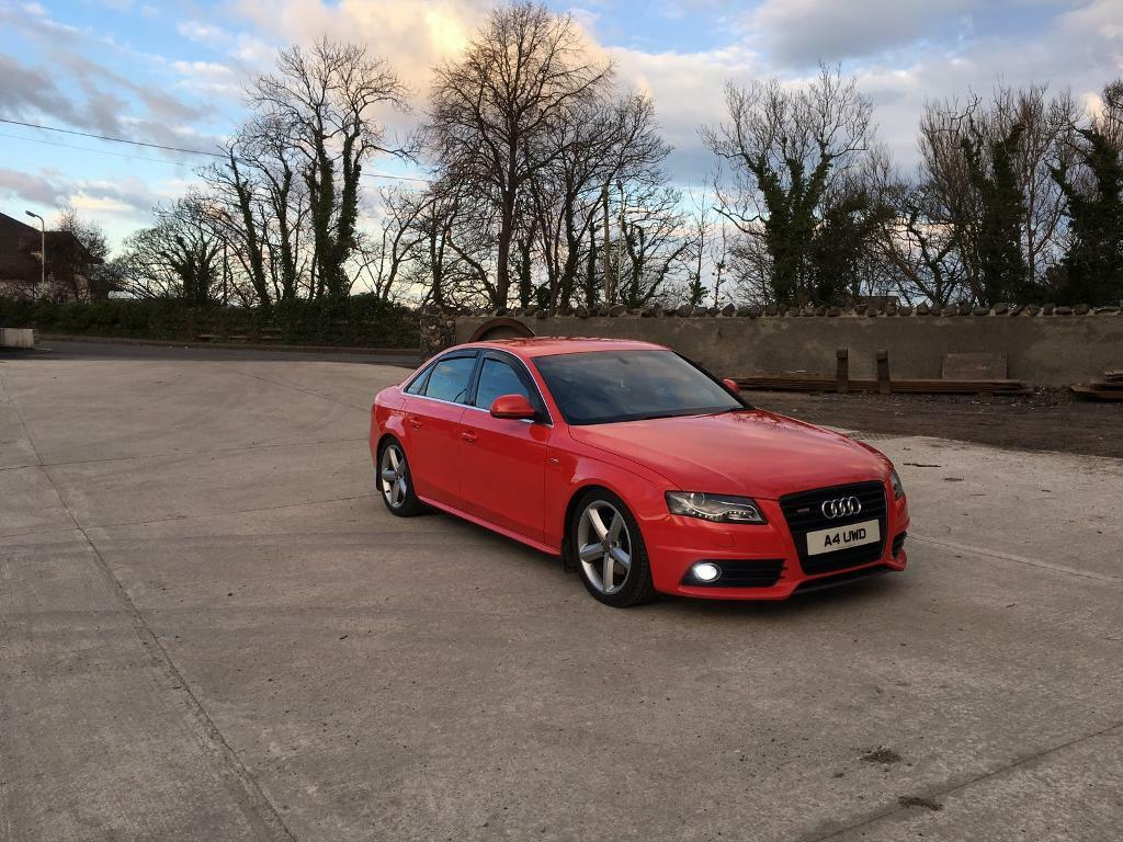audi a4 b8 2008 s line misano red in ballycastle county. Black Bedroom Furniture Sets. Home Design Ideas