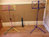 Colourful Music Stands