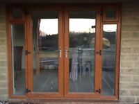uPVC French Doors with side windows and top openers - Grab A Bargain !!