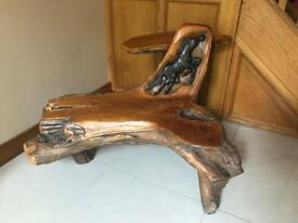 Stunning solid wooden seat