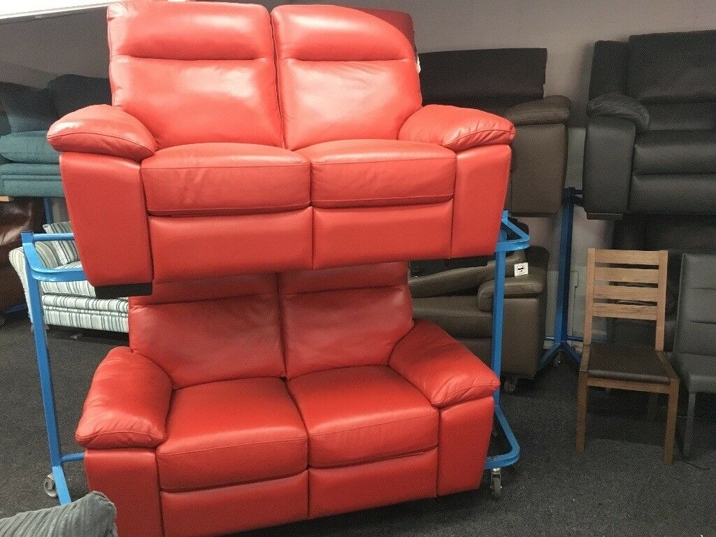 New/Ex Display LazyBoy Reid Rome 2 + 2 Seater Recliner Sofas