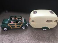 ***Sylvanian Family with camper van and car