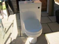 Alpine WC unit with City Space back-to-wall Toilet Pan and Soft-Close Toilet Seat