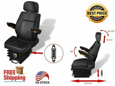 Tractor Seat With Suspension Steel And Pvc 41.7 X 19.7 X 20.5 Inch Adjustable