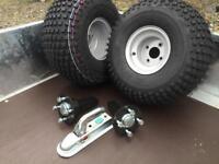 A T V quad trailer conversion kit