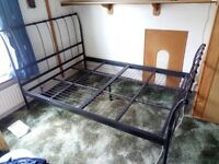 wrought iron double bed frame