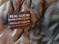Leather jacket in black XL by Ben Sherman immaculate but missing the zip pull ( see photo)