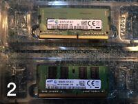 4GB + 8GB Samsung laptop memory card (From original MSI laptop)