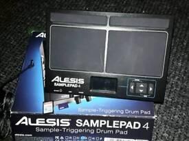 Alesis Samplepad 4 with mount.