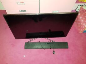 "40"" 3D Samsung Smart Tv with soundbar"