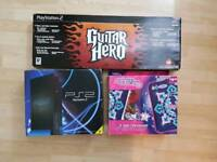 Boxed Playstation 2 With Guitar Hero