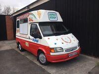 Ford Transit Hard Scoop Ice Cream Van - 1998 R reg SWB Morrison Body Icecream Van - Full MOT