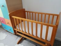 Hardly used crib for sale. Beautuful, real wood crib only used a handful of times.