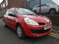 2008 Renault Clio 1.2 16v Freeway 3dr Hatchback. ONE OWNER FROM NEW, LOW MILEAGE, £1,795