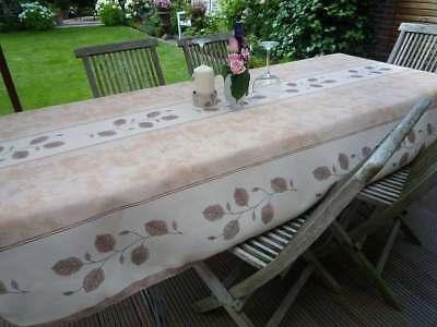 NAPPE DE TABLE PROVENCE 150x350 cm beige en France facile à entretenir et