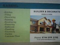 General Builders *Painting Decoration Plaster Bricklaying Plumbing Floor Kitchen Bathroom Garden*