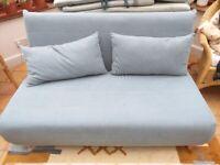 Futon / sofa bed. Pale Blue, excellent condition. Maisons du Monde