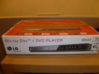 LG Blu-ray Player GUARANTEED working order. Still in box as new. IDEAL CHRISTMAS GIFT!!