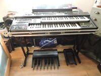 Orla electronic keyboard with flight case/stand all cables etc