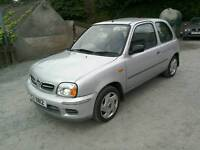02 Nissan Micra 1.0S3 door only 49000 Mls 2 owners from new ( can be viewed inside anytime)