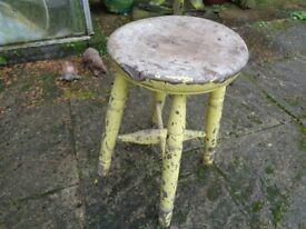 Vintage 4 legged Milking Stool