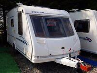 SUPERB 2003 Sterling Eccles Amber 2 Berth End Washroom Caravan with L Shaped Lounge