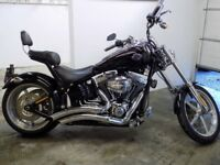 Used 2009 Harley Davidson Softail Rocker C FXCWC Motorcycle for sale Chopper Cruiser UK See Video