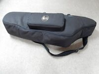 Soft gig bag for baritone Saxophone.